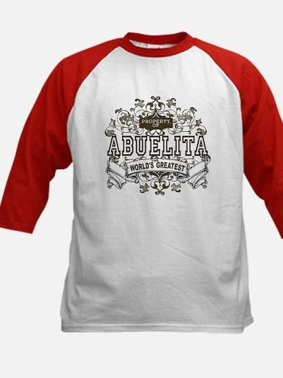 Property Of Abuelita Kids Baseball Jersey
