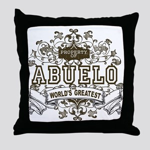 Property Of Abuelo Throw Pillow