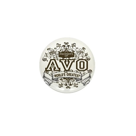 Property Of Avo Mini Button (10 pack)