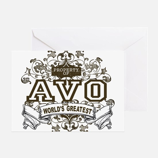 Property Of Avo Greeting Card