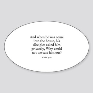 MARK 9:28 Oval Sticker