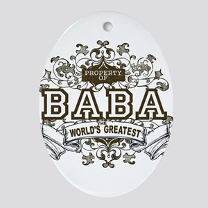 Property Of Baba Oval Ornament