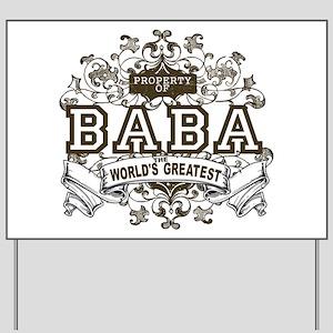 Property Of Baba Yard Sign