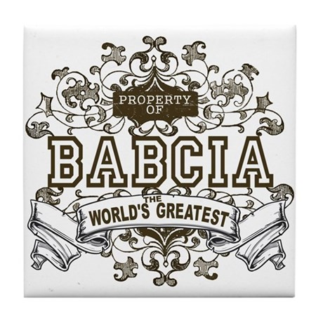 Property Of Babcia Tile Coaster
