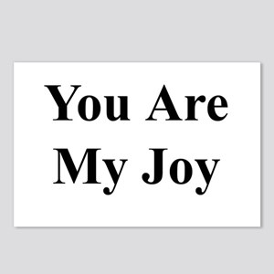 You Are My Joy black txt Postcards (Package of 8)