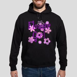 Pink and Purple Flower Girl Hoodie (dark)