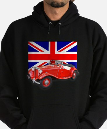 Red MG TD with Union Jack Hoodie (dark)
