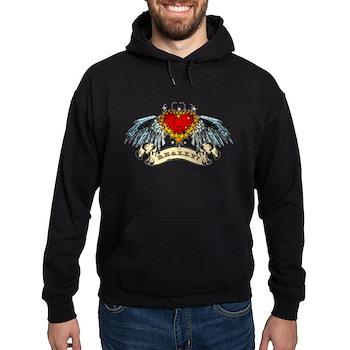 Really? Winged Heart Hoodie (dark)