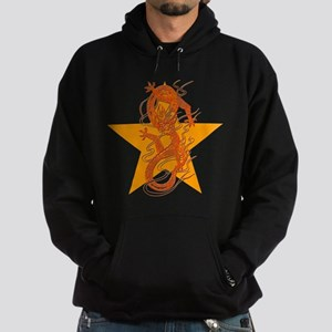 Orange Dragon for Tibet Hoodie (dark)
