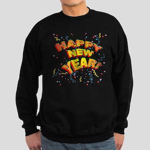 Confetti New Years Eve Sweatshirt (dark)