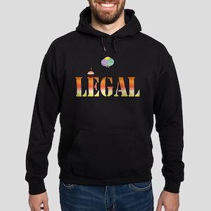 Finally Legal Birthday Hoodie (dark)