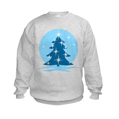 Blue Christmas Tree Kids Sweatshirt
