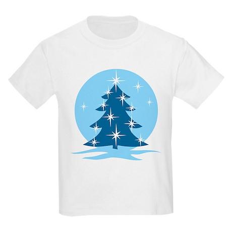 Blue Christmas Tree Kids Light T-Shirt