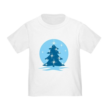 Blue Christmas Tree Toddler T-Shirt