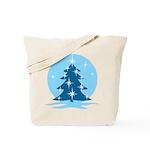 Blue Christmas Tree Tote Bag