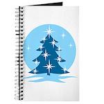 Blue Christmas Tree Journal