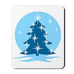 Blue Christmas Tree Mousepad