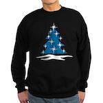Blue Christmas Tree Sweatshirt (dark)