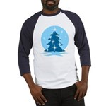 Blue Christmas Tree Baseball Tee