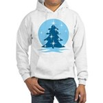 Blue Christmas Tree Hooded Sweatshirt