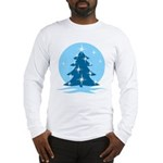 Blue Christmas Tree Long Sleeve T-Shirt