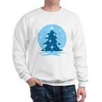 Blue Christmas Tree Sweatshirt