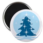 Blue Christmas Tree Magnet