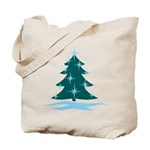 Blue Christmas Tree Tote Bag