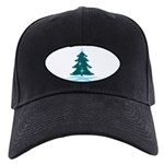 Blue Christmas Tree Black Cap with Patch