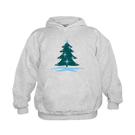 Blue Christmas Tree Kids Hoodie