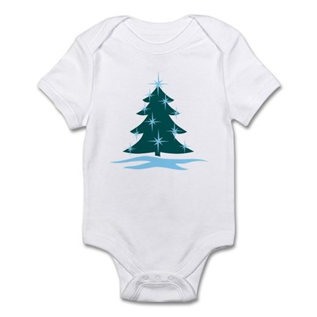 Blue Christmas Tree Infant Bodysuit