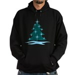 Blue Christmas Tree Hoodie (dark)