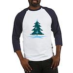 Blue Christmas Tree Baseball Jersey