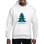 Blue Christmas Tree Hooded Sweatshirt