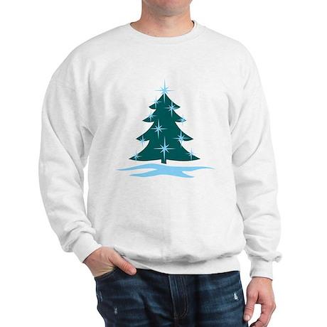 Blue Christmas Tree Sweatshirt