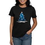 Blue Christmas Tree Women's Dark T-Shirt