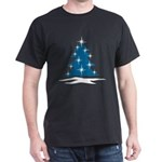 Blue Christmas Tree Dark T-Shirt