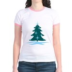 Blue Christmas Tree Jr. Ringer T-Shirt