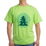 Blue Christmas Tree Green T-Shirt