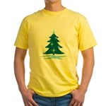 Blue Christmas Tree Yellow T-Shirt