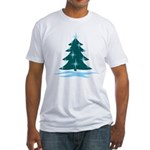 Blue Christmas Tree Fitted T-Shirt