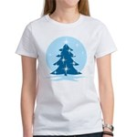 Blue Christmas Tree Women's T-Shirt