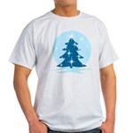 Blue Christmas Tree Light T-Shirt