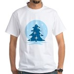 Blue Christmas Tree Men's Classic T-Shirts