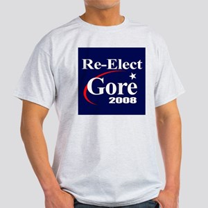 RE-ELECT GORE 2008 Ash Grey T-Shirt