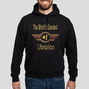 Number 1 Librarian Hoodie (dark)