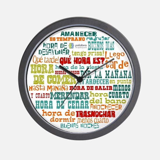 Cute Language Wall Clock