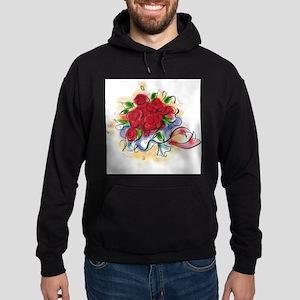 Bright Florals Hoodie (dark)