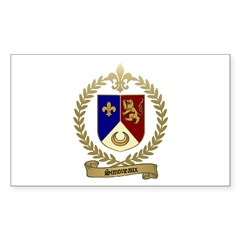 SIMONEAUX Family Crest Rectangle Decal