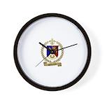 SIMONEAUX Family Crest Wall Clock